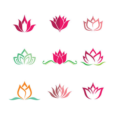 Lotus symbol vector icon illustration Illustration
