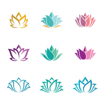 Lotus symbol vector icon illustration Ilustrace