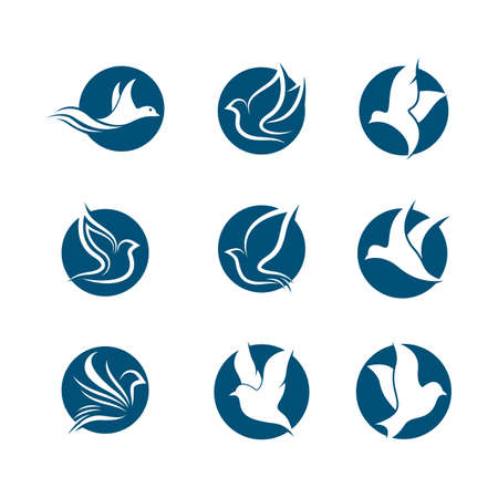 Dove vector icon illustration design