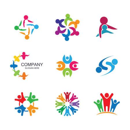 Community vector icon illustration design Ilustração Vetorial