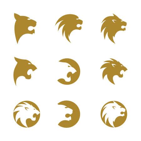 Lion head vector icon illustration Standard-Bild - 150848976