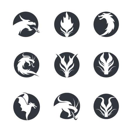 Dragon head symbol illustration design