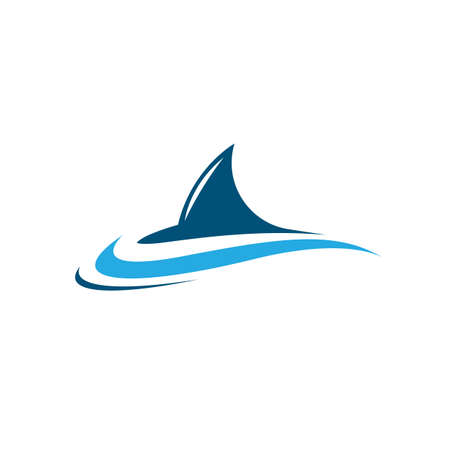 Shark symbol vector icon illustration design
