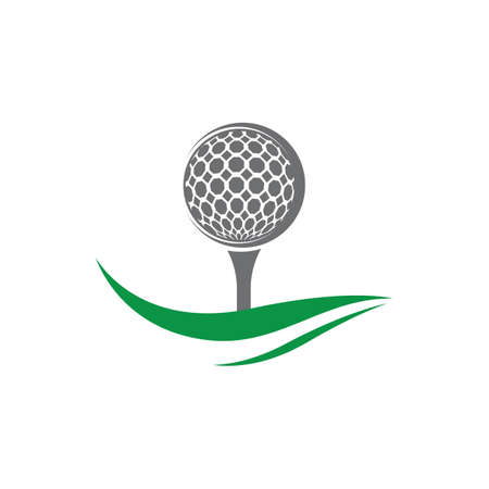 Golf symbol vector icon illustration