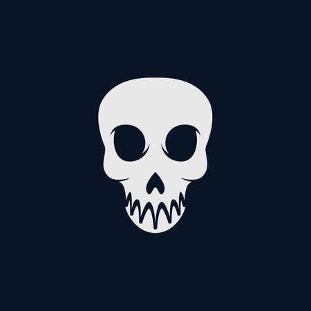 Skull vector icon illustration design