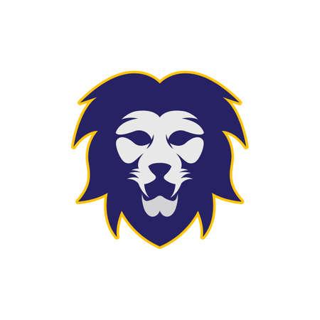 Lion head vector icon illustration