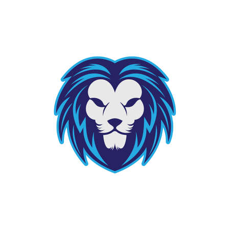 Lion head vector icon illustration