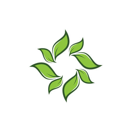 Leaf symbol vector icon illustration Vectores