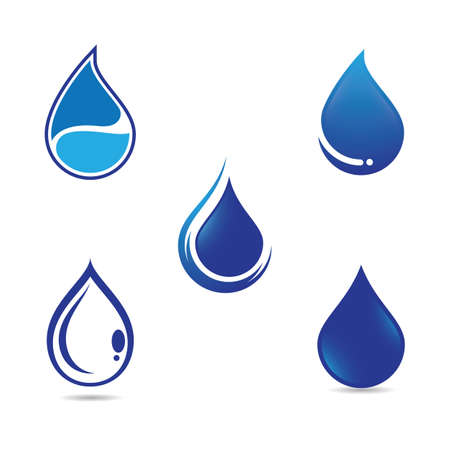 Water drop vector icon illustration