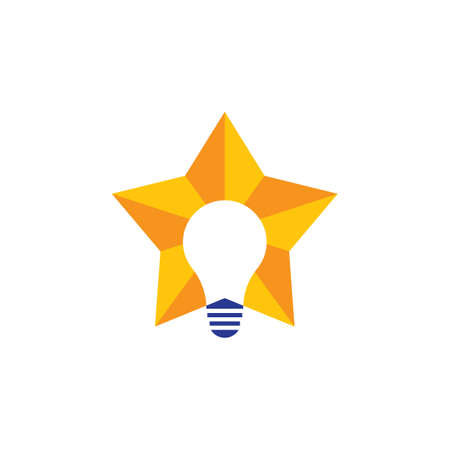 Lightbulb vector icon illustration design