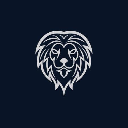 Lion head vector icon illustration Vecteurs