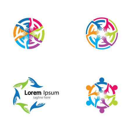 Teamwork vector icon illustration design Vetores