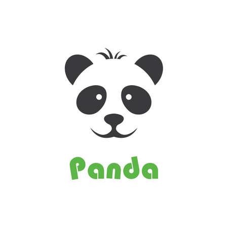 Panda logo template vector icon illustration design