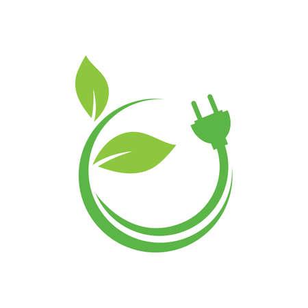 Eco energy icon symbol vector illustration