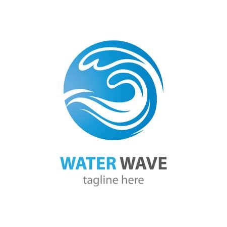 Water wave symbol vector icon illustration design