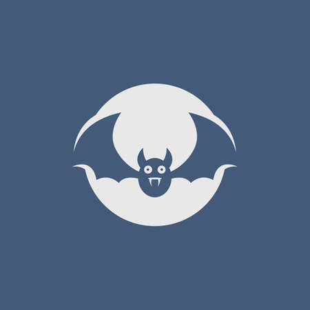 Bat vector icon illustration design