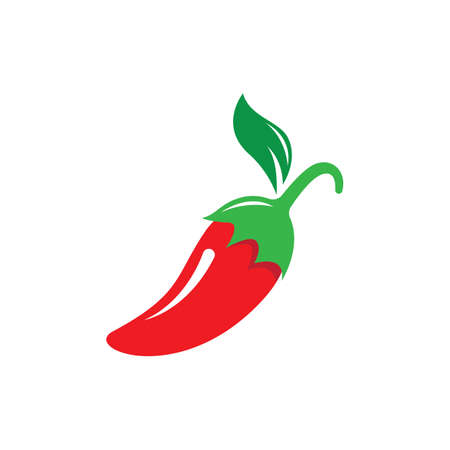Hot chili logo vector icon illustration