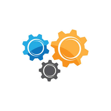 Gear symbol vector icon illustration 일러스트