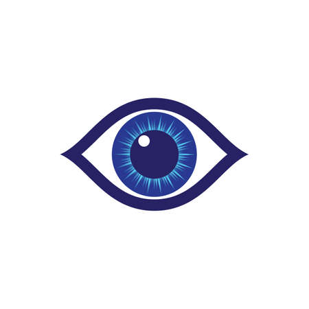 Eye symbol vector icon illustration design