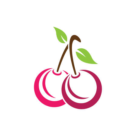 Cherry vector icon illustration design Banco de Imagens - 154634648