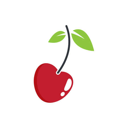 Cherry vector icon illustration design