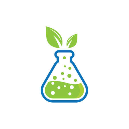 Natural lab logo icon vector design Banco de Imagens - 154634661