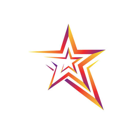 Star vector icon illustration design