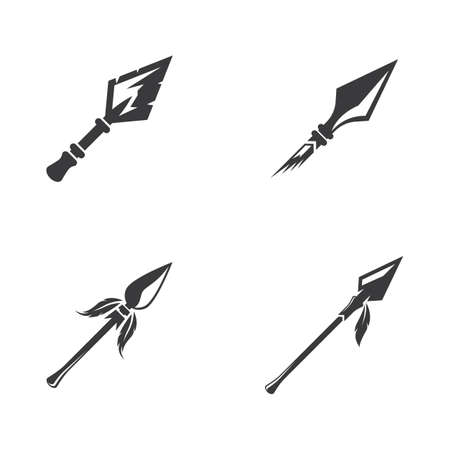 Spear logo icon vector design 일러스트
