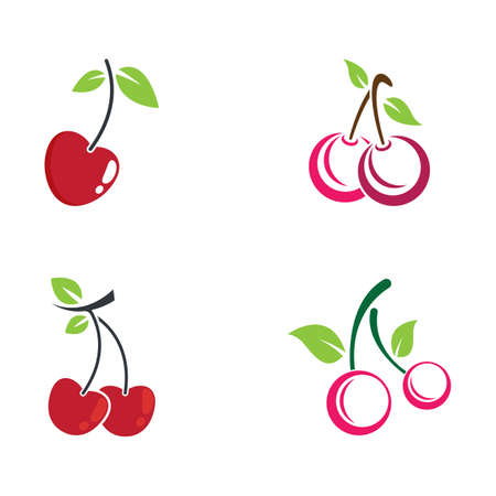 Cherry vector icon illustration design Banco de Imagens - 154634613
