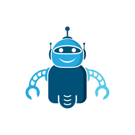 Robot vector icon illustration design
