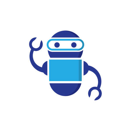 Robot vector icon illustration design 스톡 콘텐츠 - 154634618