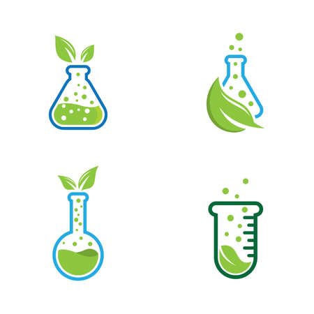 Natural lab logo icon vector design