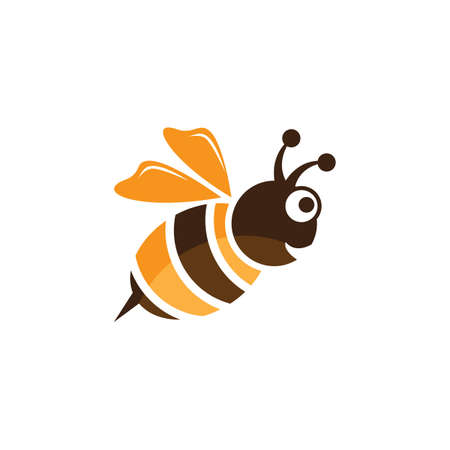 Bee logo vector icon design 스톡 콘텐츠 - 154634631