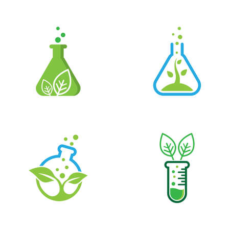 Natural lab logo icon vector design 스톡 콘텐츠 - 154634568