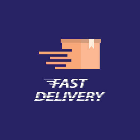 Fast delivery logo icon design
