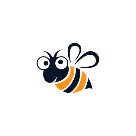 Bee logo vector icon design 스톡 콘텐츠 - 154634589
