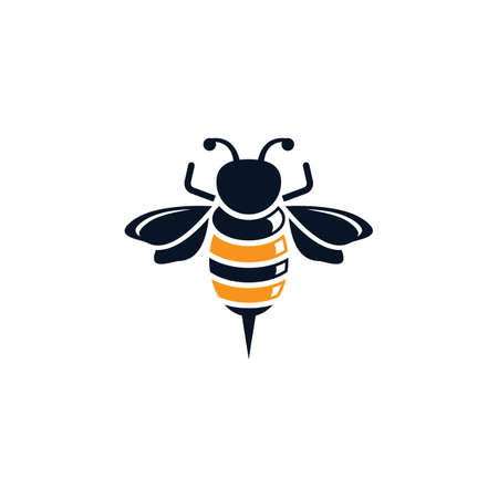 Bee logo vector icon design