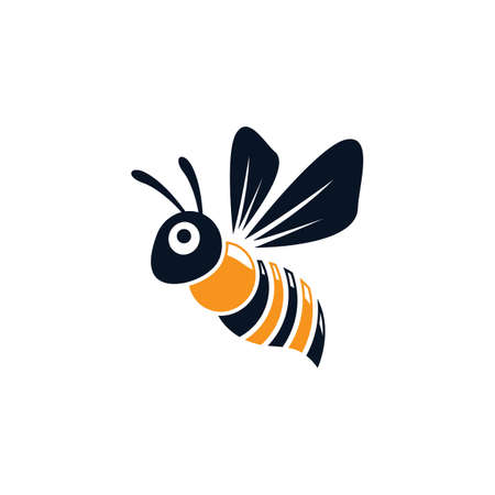 Bee logo vector icon design 스톡 콘텐츠 - 154634596