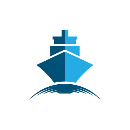 Cruise ship symbol vector icon illustration Banco de Imagens - 154634598