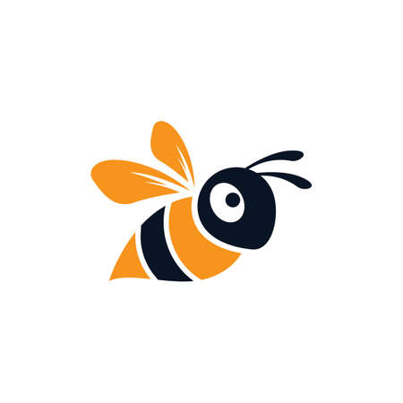 Bee logo vector icon design 스톡 콘텐츠 - 154634552
