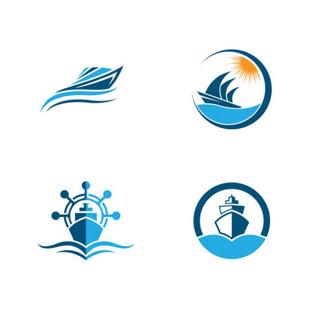 Cruise ship symbol vector icon illustration