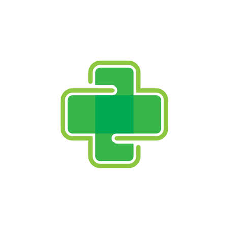 Medical cross vector icon illustration design
