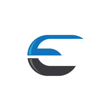 Letter e symbol illustration design