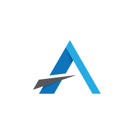 Letter a symbol illustration design