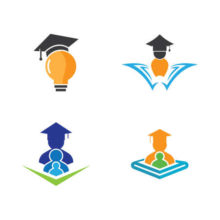 Smart education symbol vector icon illustration Illusztráció