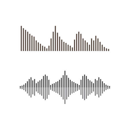 Sound wave vector icon illustration design