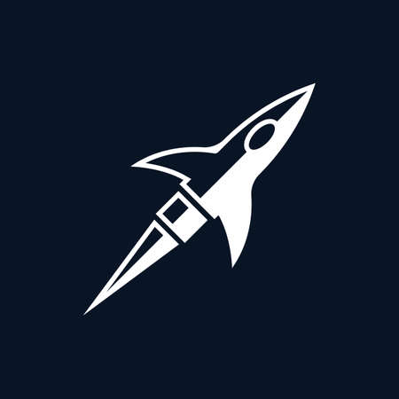 Rocket symbol illustration design