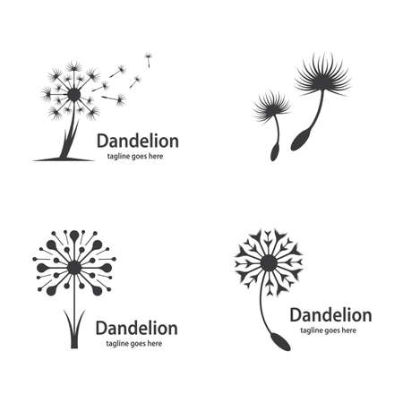 Dandelion symbol vector icon illustration design Illusztráció