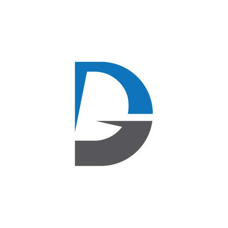 D letter logo vector icon illustration design