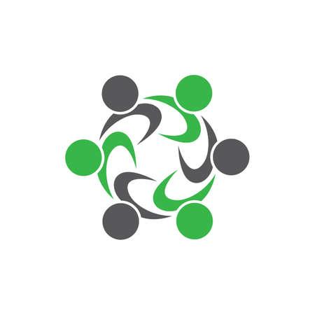 Business teamwork vector icon illustration design